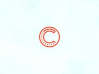 C Circle stroke grid identity icon line minimal branding logo vector typography dots circle c