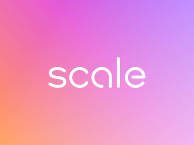Scale AI typography branding logo gif animation machine learning ml artificial intelligence ai