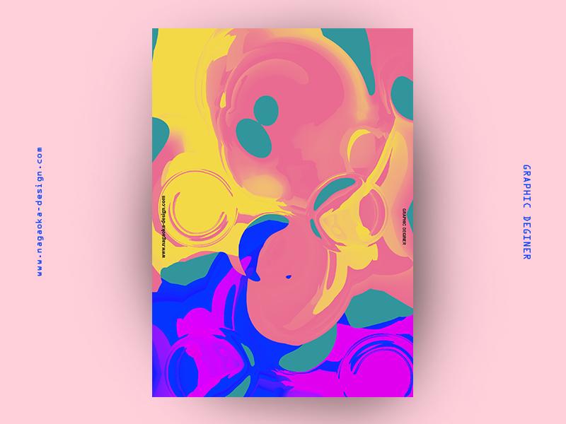 random poster 005 flat blur color print noise rgb black graphic shape random abstract japan project poster