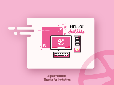 hello Dribbble!! my 1st shoot pink pc shot first