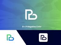Letter B + P Negative Color