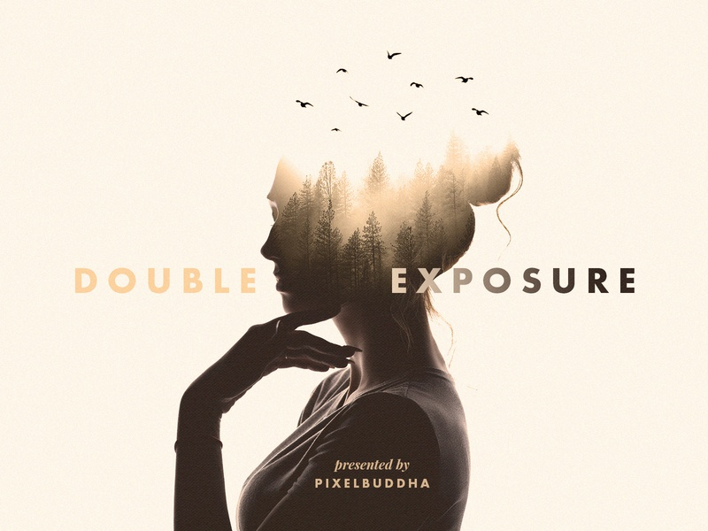 Double Exposure Photoshop Effect double exposure combine blend smart object mixed action textures photo effect photoshop