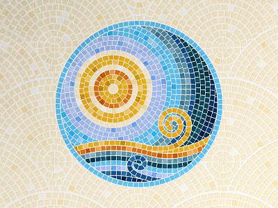 Mosaic Tile Photoshop Brushes sea photoshop wave sun fauxsaic tiled pattern tile mosaic illustration brushes