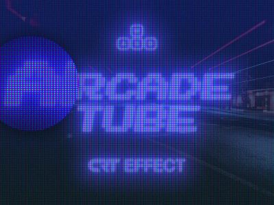 Arcade Tube CRT Effect tv machine game futuristic chromatic neon cyberpunk 80s 90s 8 bit computer distortion lcd monitor vhs pixel effect crt screen retro