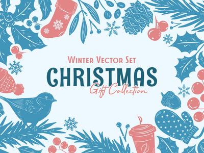 Christmas Gift: Winter Vector Set