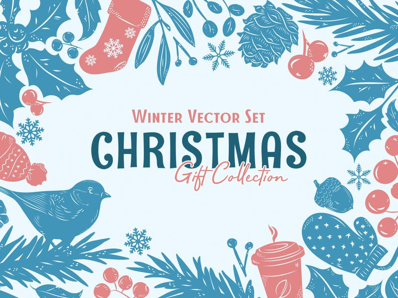 Christmas Gift: Winter Vector Set