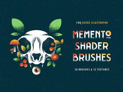 Shader Brushes for Illustrator plants eye skull illustrator grunge shade texture vector brush grit noise grain