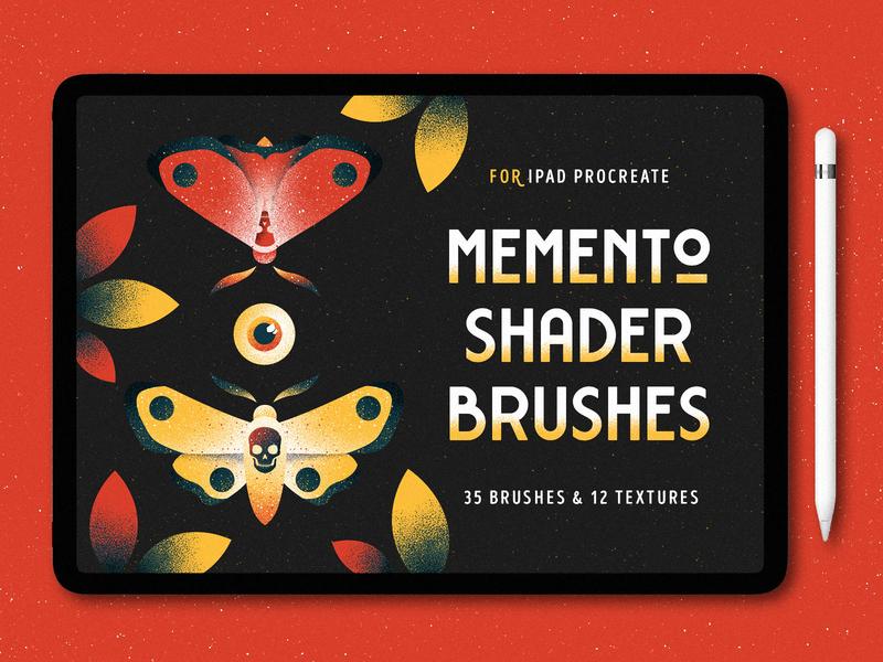Shader Brushes for Procreate brushes moth eye illustration butterfly shade texture ipad shader noise grit grain procreate brush