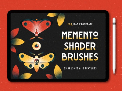 Shader Brushes for Procreate brushes moth eye illustration butterfly shade texture ipad shader noise grit grain procreate brush