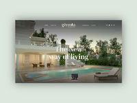 Gërmia Residences — Web Design