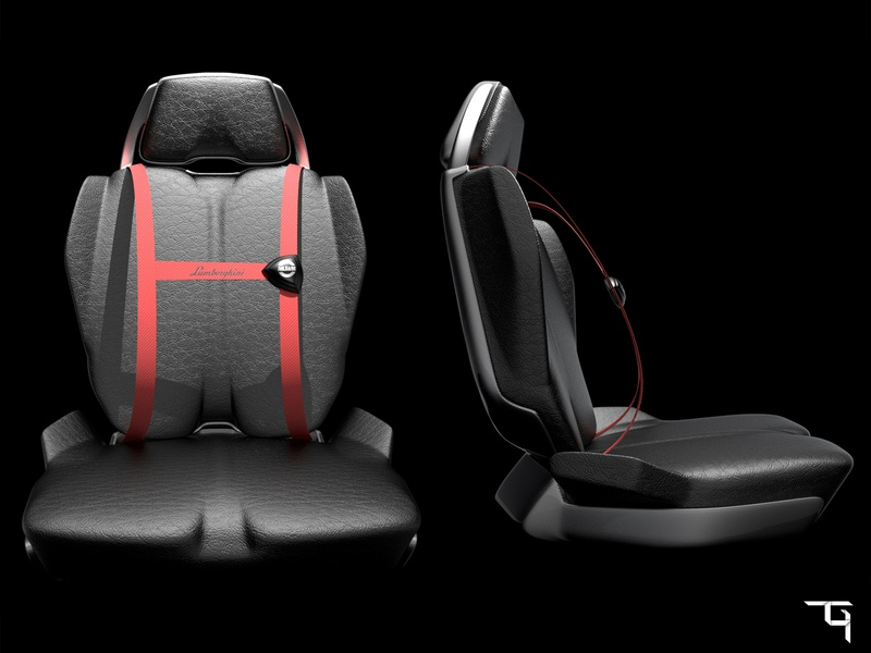 Lamborghini Seat Concept By Tathagata Ghosh Dribbble Dribbble