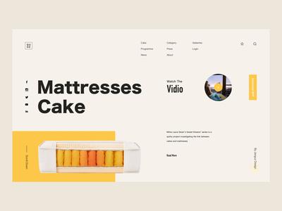 Mattresses Cake -Website animation concept