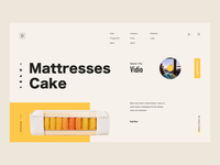 Mattresses Cake -Website animation concept