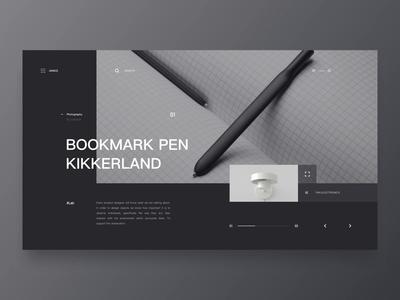 BOOKMARK PEN /Website animation concept