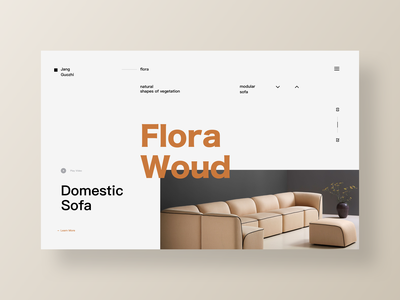Domestic Sofa/Website Animation Concept cloud bolia dommestic color format bauhaus ue web page grid system graphic design interaction mobility video .gif after effects simple procinple sketch ui website design