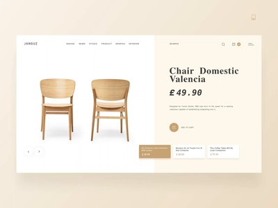 Chair Domestic/Office Sofa /Tables/Website Animation Concept