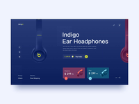 Ear Headphones/Website Animation Concept