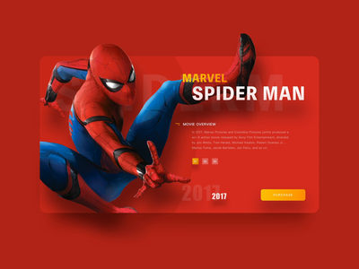 Spieder Man/Iron Man/Captain America/Website Animation Concept mcu marvel comics clean ux ued ue bauhaus animation grid system after effects gif format video principle website ui design captain america iron man spieder man