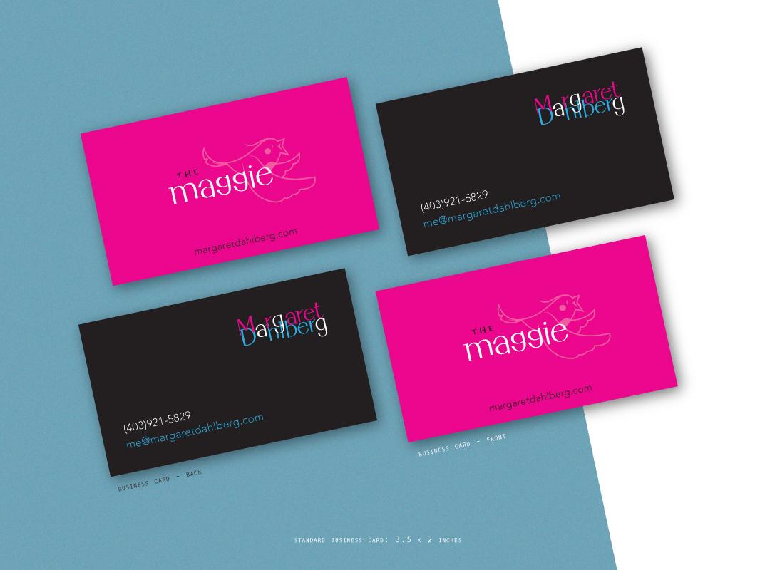Margarets cards for The Maggie branding vector logo typography design brand creative direction illustration