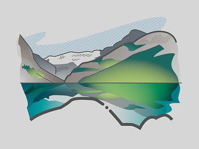 Lake Louise thewayfindercompany maps landscape myth hike online design print identity brand creative direction illustration