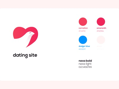 Dating Site Logo identity illustrator flat web app icon typography branding vector ui logo design illustration