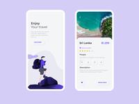 Neumorphism Concept Travel App