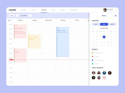 Calendi — Calendar Application dashboard app dashboard ui dashboad uiux calendar design calendar ui calendar app calendar concept website ux web identity ui branding flat app design