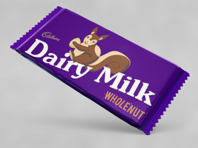 Cadbury Dairy Milk Wholenut Squirrel