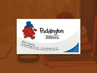 Paddingtons business card prototype
