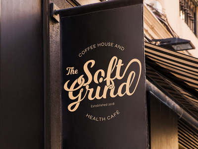 The Soft Grind logo - on banner