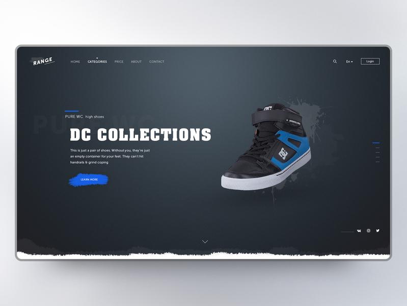 Range Shoes concept вебдизайн дизайн