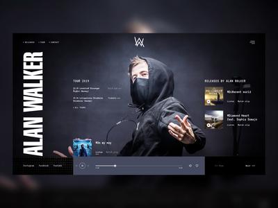 Alan Walker web site concept