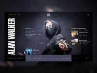Alan Walker web site concept