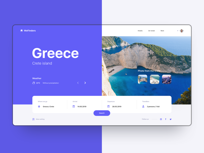 WeFinders web site travel agency greece concept design ux designer travel tour user interface design ui webdesigner webdesign web user interface user experience design ui  ux photoshop figma design