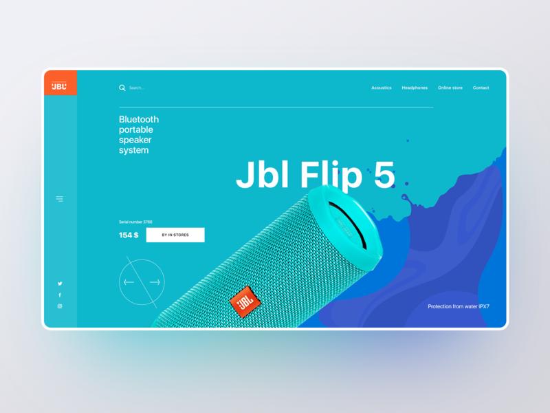 Jbl store acoustic jbl ui webdesigner webdesign web user interface user experience design ui  ux photoshop figma design