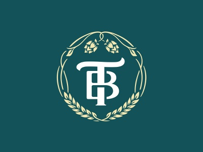 Talleysville Brewing Co. Logo brewery vine craftbeer craft beer hops monogram vector branding logo design
