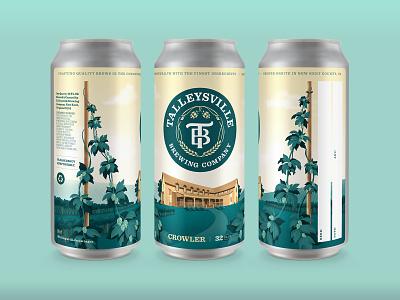 Talleysville Brewing Co. - Crowler Designs package packaging can logo illustration hops brewery branding craftbeer beer