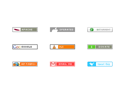 Antipixel Buttons (80 x 15) buttons antipixel 80x15 collection freebie download