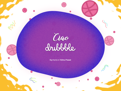 Ciao Dribble! design debut graphic design dribble debut