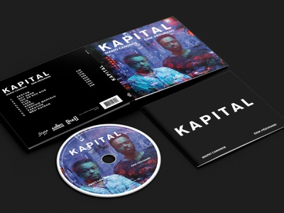 Digipack Kapital - M. Canonge and E. Pédurand by AZTEC logodesigner illustration vector product print design branding cd cover logo typography