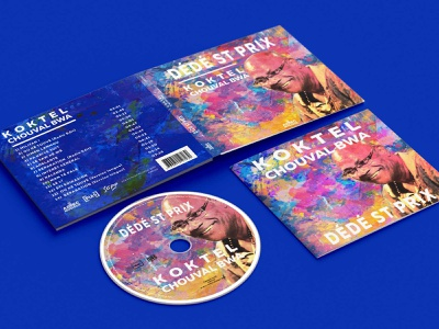 Digipack Koktel Chouval Bwa - Dédé Saint Prix - AZTEC Musique visual identity vector design branding typography logodesign cd artwork cd design cd cover