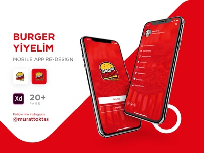 Burger yiyelim mobile app re-design #1