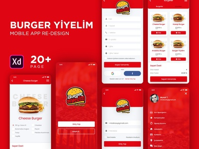 Burger yiyelim mobile app re-design #2