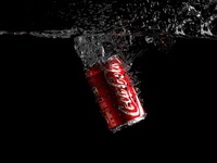Coca-Cola water splash