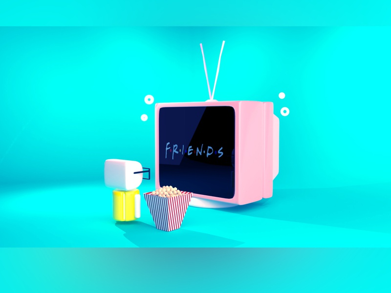 What else needed when you have friends. avatars environment minimalist modeling 3d blender