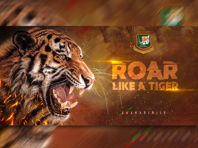 Roar Like A Tiger poster design photoshop manipulation graphics design