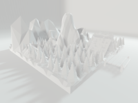 lowpoly mountain on the way
