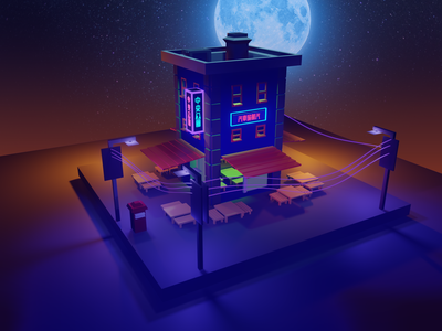 low poly 3d motel blender eevee design low poly environment modeling minimalist graphics design 3d blender