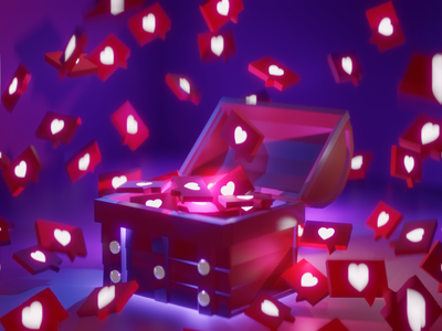 Insta love artwork low poly environment minimalist modeling graphics design 3d blender