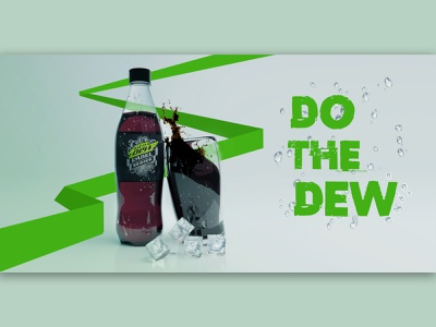 Do The Dew banner ad minimalist photoshop graphicdesign poster product design modeling blender 3d